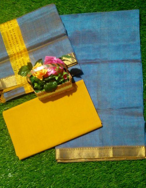 mangalagiri silk dress material
