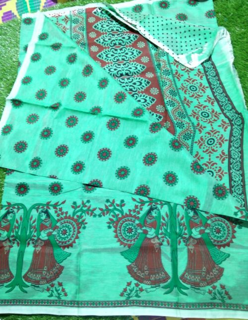 Mangalagiri printed silk sarees