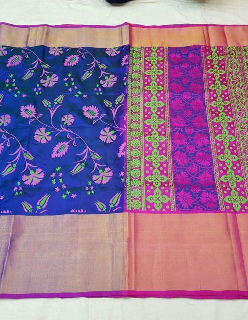 printed uppada silk saree