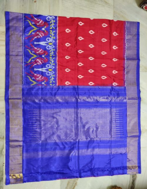 Ikkat silk saree
