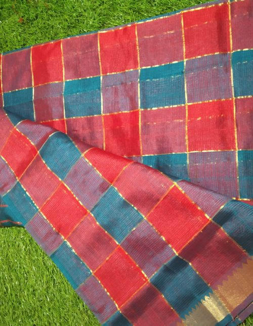 checks mangalagiri silk saree