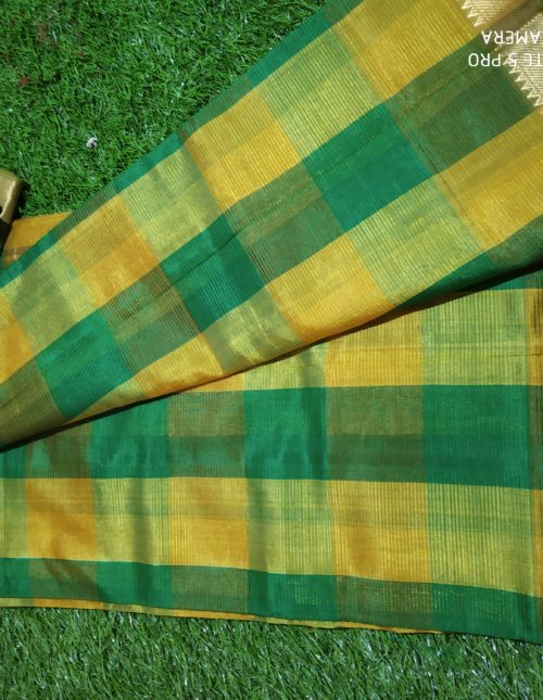 checks mangalagiri pattu saree