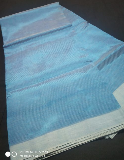 blue color plain mangalagiri silk saree
