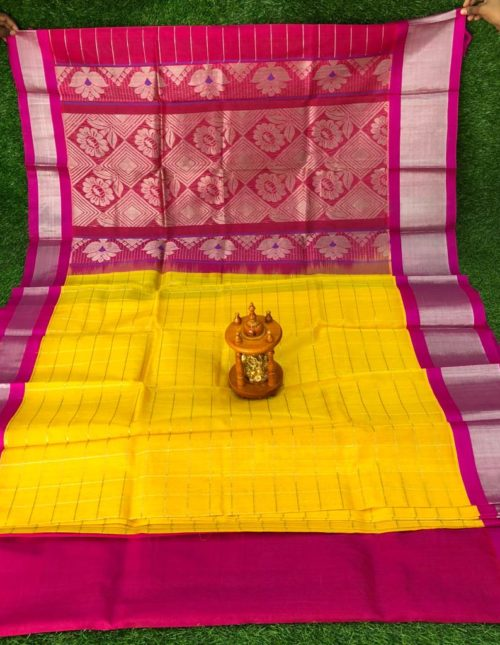 checks kuppadam silk sarees - kp127