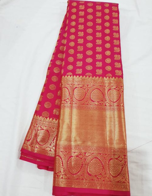 kanchi silk sarees for bridal look -ks123
