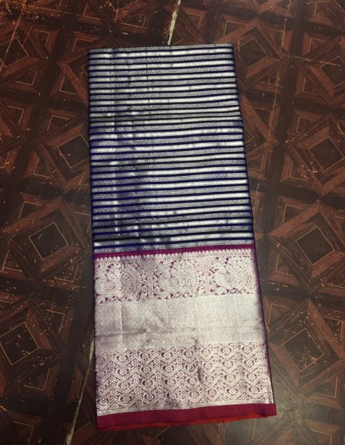 venkatagiri silk sarees with horizontal lines-v121
