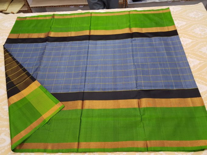 gray and green uppada pattu sarees-u185