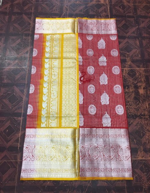venkatagiri silk saree with checks