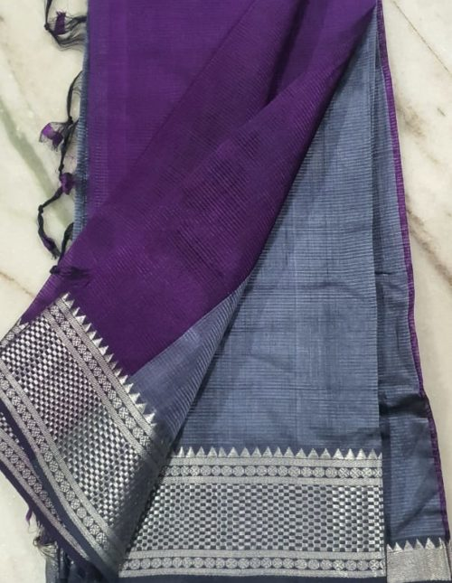 Gray and purGray and purple exclusive mangalagiri silk saree-m9648ple exclusive mangalagiri silk saree-m9648