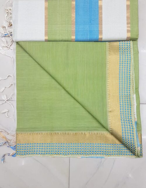 Mangalagiri Cotton Saree green mc-1010