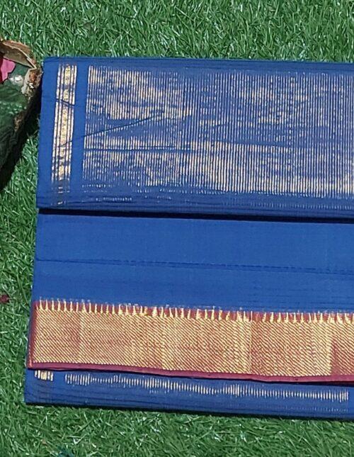 Mangalagiri Cotton Saree Rin Blue mc-1014