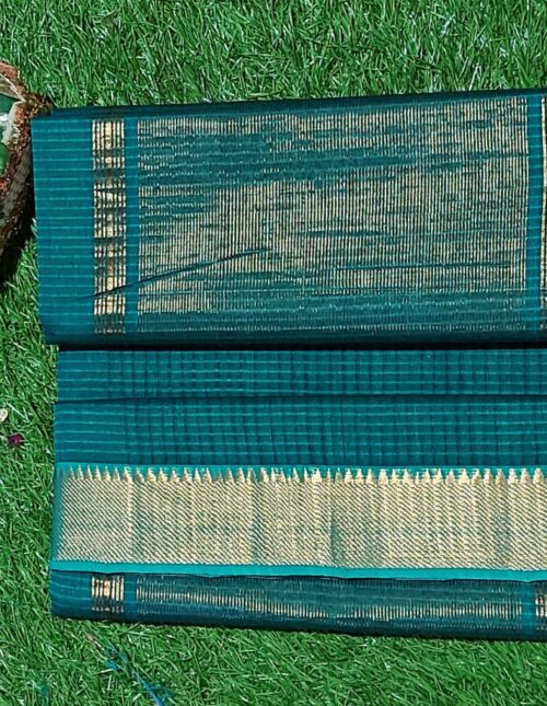 Mangalagiri Cotton Saree Green mc-1015