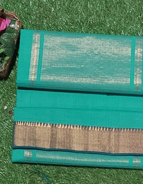 Mangalagiri Cotton Saree Aqua Green mc-1017