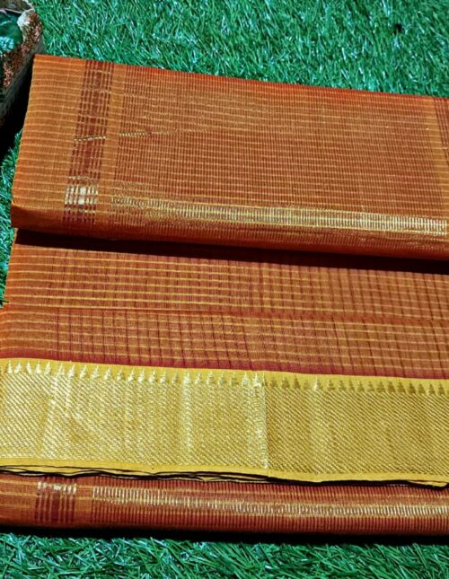 Mangalagiri Cotton Saree Brown mc-1018