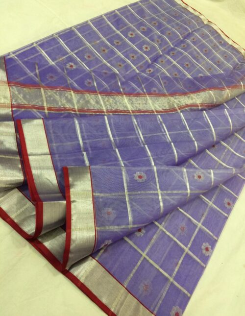 Chanderi silk saree Grey cs-3002